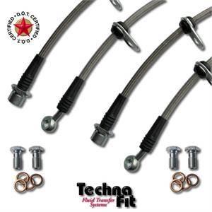 Techna-Fit Stainless Steel Brake Line Kit for Toyota Black SCI-1100BK