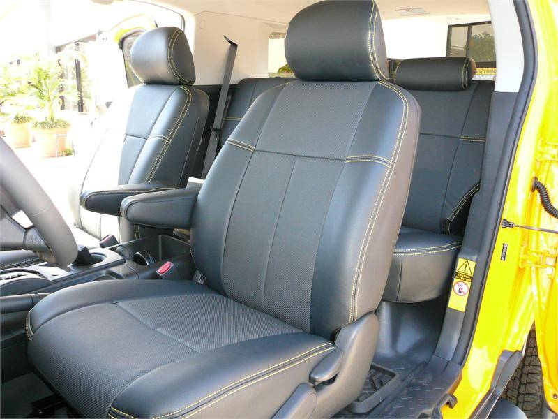 Clazzio 105311blkk Black Leather Front Row Seat Cover for Scion xB