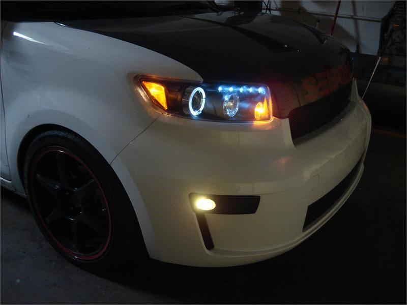 Scion Xb Parts >> Spec D Projector Halo Headlights (Black): Scion xB 2008 ...