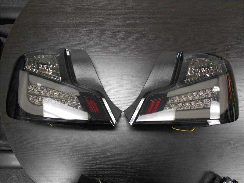 spec d black smoke led tail lights scion tc 2011 2013 tc2 2011
