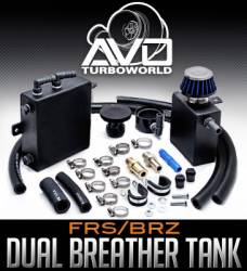 AVO Turboworld - AVO Turboworld Dual Breather Tank Kit:  Scion FR-S 2013-2016; Toyota 86 2017-2018; Subaru BRZ 2013-2018