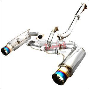 Spec D - Spec D Cat-Back Exhaust (Titanium Tips): Scion FR-S 2013-2016; Toyota 86 2017-2018; Subaru BRZ 2013-2018