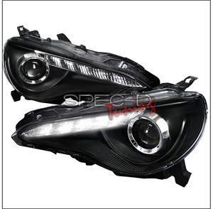 Spec D - Spec D LED Projector HeadLights (Black): Scion FR-S 2013 - 2016