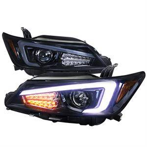 Spec D - Spec D Projector Headlights w/ LED DRL Light Bar (Smoke): Scion tC 2011 - 2013 (tC2)
