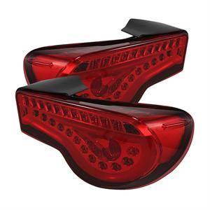Spyder - Spyder JDM Red LED Tail Lights: Scion FR-S 2013 - 2016; Subaru BRZ 2013-2016