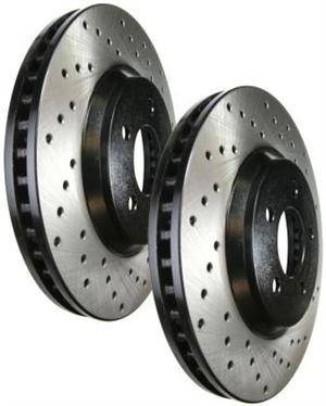 Stoptech - Stoptech Drilled Front Brake Rotors: Scion xA / xB 2004 - 2006