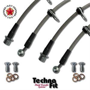 Technafit - Technafit Stainless Brake Lines (Front & Rear): Scion xA / xB 2004 - 2006