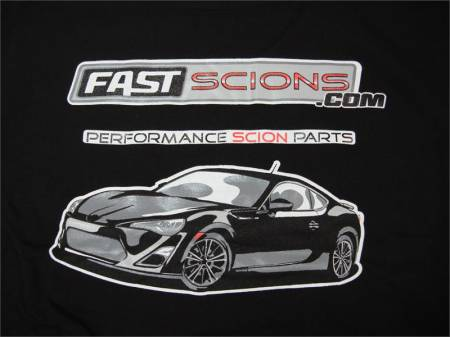 FastScions - FastScions Scion FR-S T-Shirt (Black - Short Sleeve)