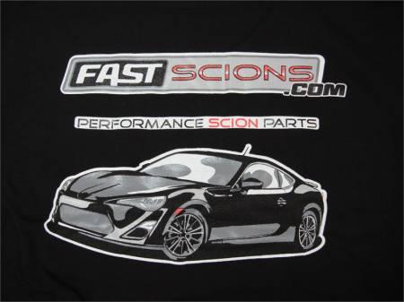FastScions - FastScions Scion FR-S T-Shirt (Black - Short Sleeve)