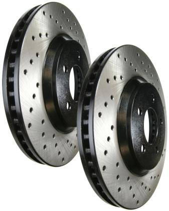 Stoptech - Stoptech Drilled Rear Brake Rotors: Scion FR-S 2013-2016; Subaru BRZ 2013-2018