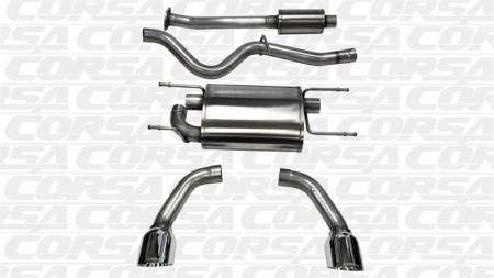 "CORSA Performance Exhausts - Corsa ""Polished"" Sport Cat-Back Exhaust: Scion FR-S 2013-2016; Toyota 86 2017-2020; Subaru BRZ 2013-2020"
