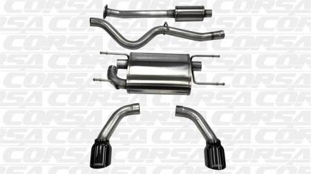 "CORSA Performance Exhausts - Corsa ""Black"" Sport Cat-Back Exhaust: Scion FRS 2013 - 2016"