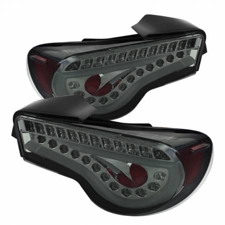 Spyder - Spyder Smoke LED Tail Lights (w/ Light Bar): Scion FR-S 2013 - 2016; Subaru BRZ 2013-2016