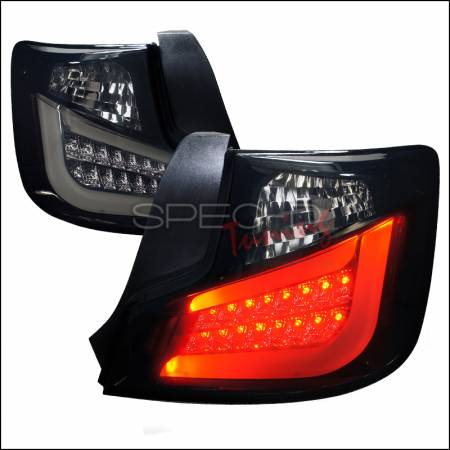 Spec D - Spec D Black / Smoke LED Tail Lights: Scion tC 2011 - 2013 (tC2)