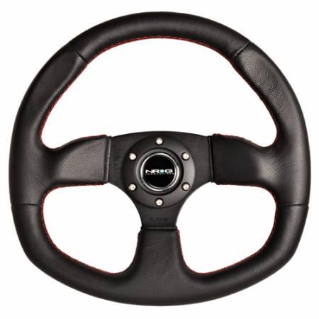 NRG Innovations - NRG Innovations Flat Bottom Steering Wheel (320mm)