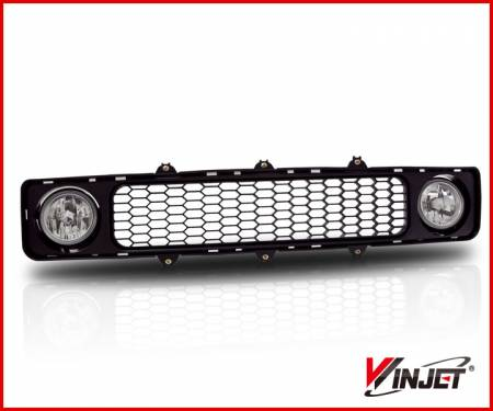 Winjet - Winjet Lower Grille w/ Fog Lights (Clear): Scion tC 2005 - 2010