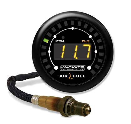 Innovate Motorsports - Innovate MTX-L PLUS Digital Air/Fuel Ratio Gauge Kit (w/ 8ft O2 Sensor)