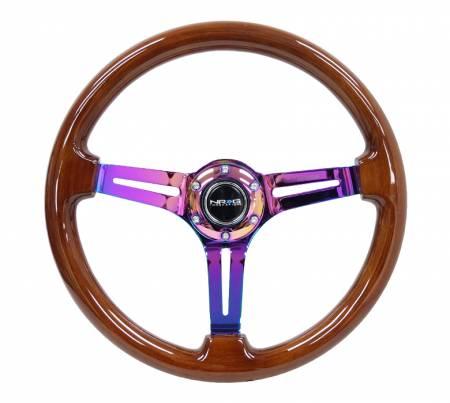 NRG Innovations - NRG Innovations RST-018 Wood Deep Dish Steering Wheel (350mm)