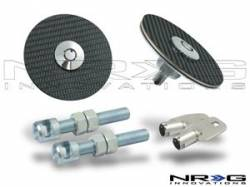 SCION CARBON FIBER PARTS - Scion Carbon Fiber Misc - NRG Innovations - NRG Innovations Carbon Fiber Hood Pins / Lock Kit