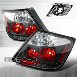 Scion tC Lighting Upgrades - Scion tC Tail Lights - Spec D - Spec D Black Tail Lights: Scion tC 2005 - 2010