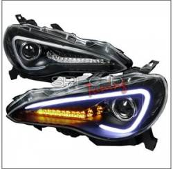 SCION LIGHTING PARTS - Scion Headlights - Spec D - Spec D LED Projector HeadLights (Black With Amber): Scion FR-S 2013 - 2016