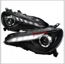 SCION LIGHTING PARTS - Scion Headlights - Spec D - Spec D LED Projector HeadLights (Black): Scion FR-S 2013 - 2016