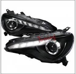 Scion FRS Lighting Parts - Scion FRS Headlights - Spec D - Spec D LED Projector HeadLights (Black): Scion FR-S 2013 - 2016