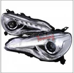 Spec D - Spec D LED Projector HeadLights (Chrome): Scion FR-S 2013 - 2016