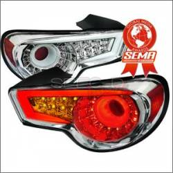 Scion FRS Lighting Parts - Scion FRS Tail Lights - Spec D - Spec D LED Tail Lights (Chrome): Scion FR-S 2013 - 2016