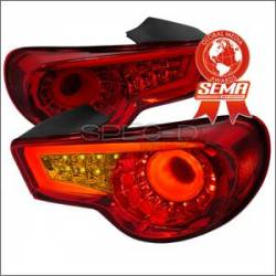 Scion FRS Lighting Parts - Scion FRS Tail Lights - Spec D - Spec D LED Tail Lights (Red): Scion FR-S 2013 - 2016