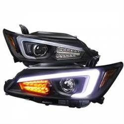SCION LIGHTING PARTS - Scion Headlights - Spec D - Spec D Projector Headlights w/ LED DRL Light Bar (Black): Scion tC 2011 - 2013 (tC2)
