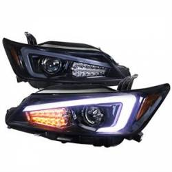 Scion tC2 Lighting Upgrades - Scion tC2 Headlights - Spec D - Spec D Projector Headlights w/ LED DRL Light Bar (Smoke): Scion tC 2011 - 2013 (tC2)