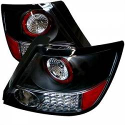 SCION LIGHTING PARTS - Scion Tail Lights - Spyder - Spyder Black LED Tail Lights: Scion tC 2005 - 2010