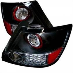 Spyder Black LED Tail Lights: Scion tC 2005 - 2010