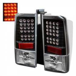 SCION LIGHTING PARTS - Scion Tail Lights - Spyder - Spyder Black LED Tail Lights: Scion xB 2004 - 2006