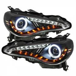 SCION LIGHTING PARTS - Scion Headlights - Spyder - Spyder CCFL Halo Projector Headlights (Black): Scion FR-S 2013 - 2016