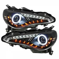 Scion FRS Lighting Parts - Scion FRS Headlights - Spyder - Spyder CCFL Halo Projector Headlights (Black): Scion FR-S 2013 - 2016