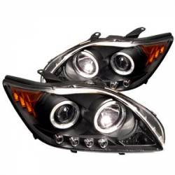 SCION LIGHTING PARTS - Scion Headlights - Spyder - Spyder Dual Halo Projector Headlights (Black): Scion tC 2005 - 2010