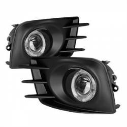 SCION LIGHTING PARTS - Scion Fog Lights - Spyder - Spyder Halo Projector Fog Lights (Clear): Scion tC 2011 - 2013 (tC2)