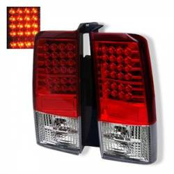 Scion xB Lighting Parts - Scion xB Tail Lights - Spyder - Spyder Red / Clear LED Tail Lights: Scion xB 2004 - 2006