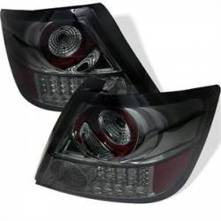 SCION LIGHTING PARTS - Scion Tail Lights - Spyder - Spyder Smoke LED Tail Lights: Scion tC 2005 - 2010