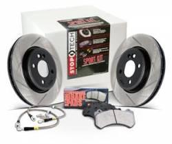 Scion tC Brake Parts - Scion tC Brake Kit - Stoptech - Stoptech Drilled & Slotted Sport Brake Kit (Front & Rear): Scion tC 2005 - 2010