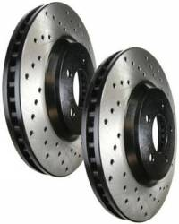 SCION BRAKE PARTS - Scion Brake Rotors - Stoptech - Stoptech Drilled Front Brake Rotors: Scion tC 2005 - 2010