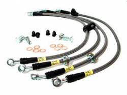 SCION BRAKE PARTS - Scion Stainless Brake Lines - Stoptech - Stoptech Stainless Steel Front Brake Lines: Scion tC 2005 - 2010