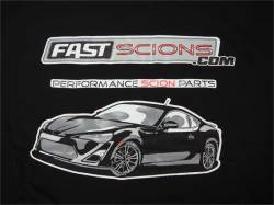 Shop by Part - SCION SWAG - FastScions - FastScions Scion FR-S T-Shirt (Black - Short Sleeve)