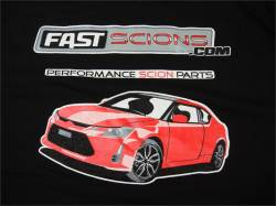 FastScions - FastScions Scion tC2 T-Shirt (Black - Short Sleeve)