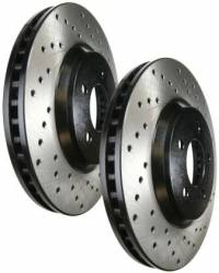 SCION BRAKE PARTS - Scion Brake Rotors - Stoptech - Stoptech Drilled Rear Brake Rotors: Scion FR-S 2013-2016; Subaru BRZ 2013-2018