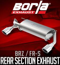 Scion FRS Engine Performance Parts - Scion FRS Exhaust System - Borla - Borla Rear Section Exhaust: Scion FR-S 2013 - 2016; Toyota 86 2017-2018; Subaru BRZ 2013-2018