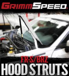 SCION ENGINE ACCESSORIES - Scion Engine Dress Up - GrimmSpeed - Grimmspeed Hood Supports: Scion FR-S 2013 - 2016