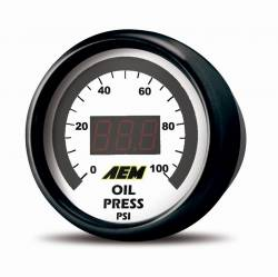"Scion xA Interior Parts - Scion xA Gauge - AEM - AEM Digital Oil / Fuel Pressure Gauge (2 1/16"" - 52mm)"